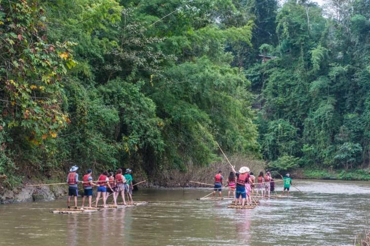 bamboo rating trek chiang mai - thailande