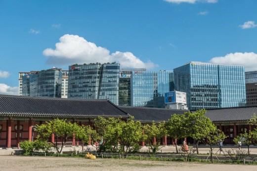 immeubles seoul vues depuis palais gyeongbokgung
