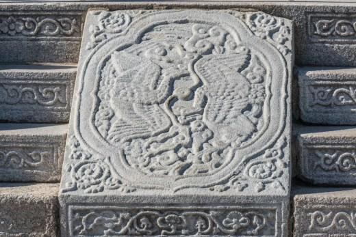 motif pierre salle du trone - palais gyeongbokgung - seoul