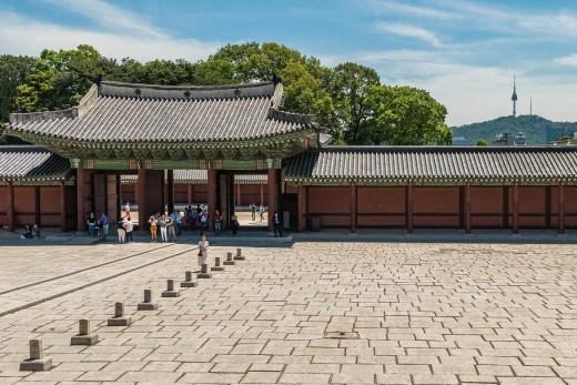 porte injeongjeon vue n tower seoul