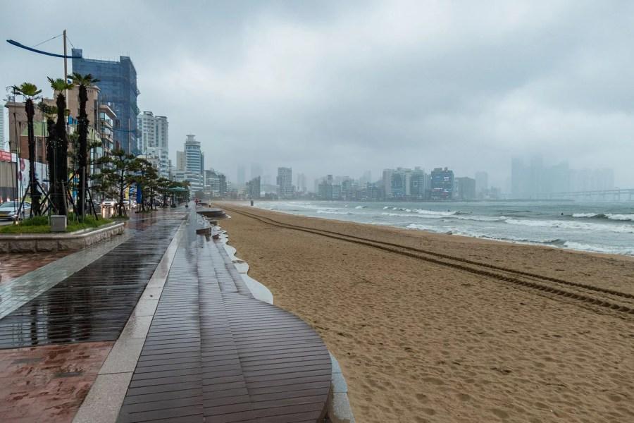 sale temps plage busan - coree du sud