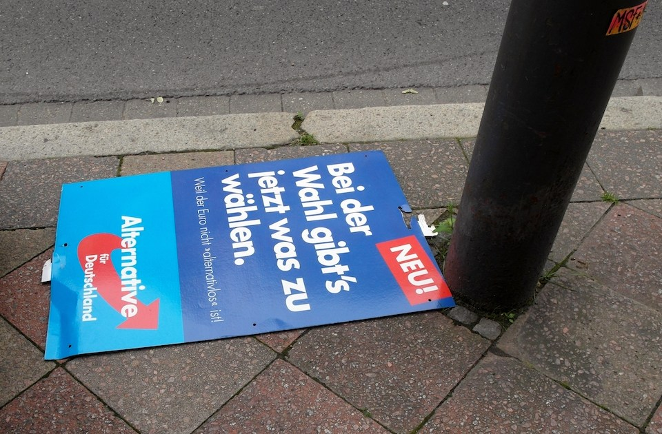 Alternative for Germany (AfD ) poster