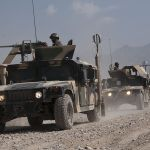Afghan National Army trucks