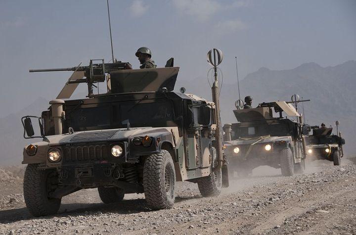 Afghan National Army trucks
