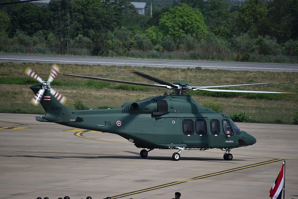AgustaWestland AW139 helicopter of the Royal Thai Army in Khon Kaen
