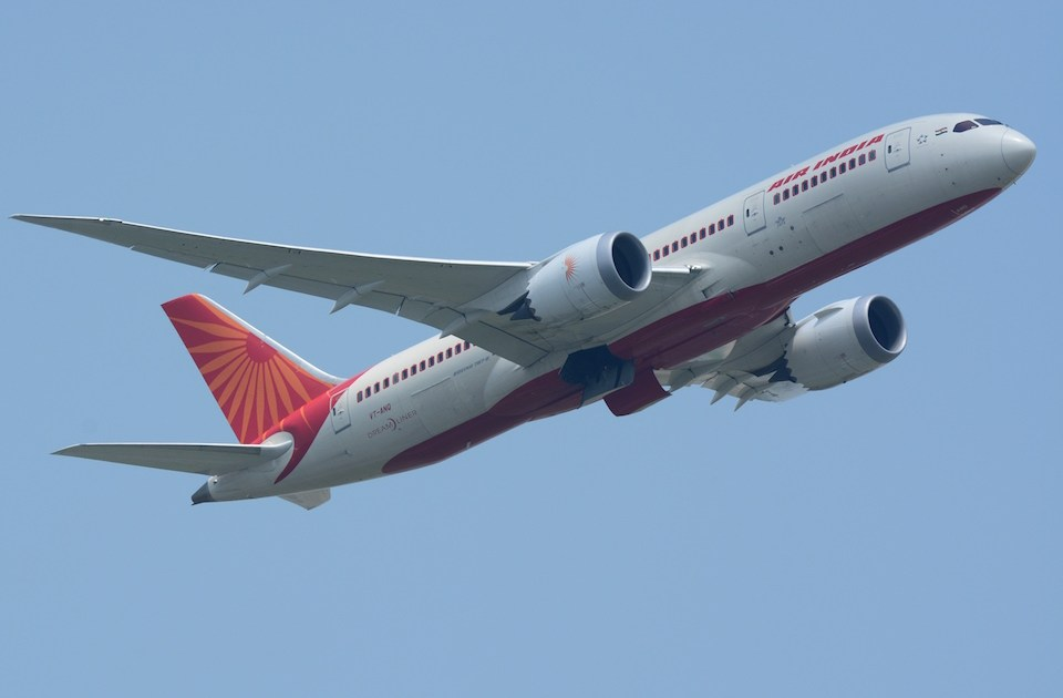 Air India Boeing 787-8 during take off