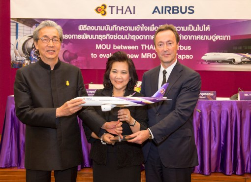Airbus and THAI to evaluate new MRO business