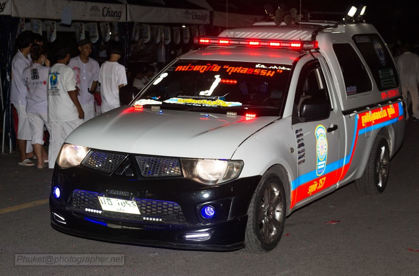 Rescue ambulance at Phuket Vegetarian Festival