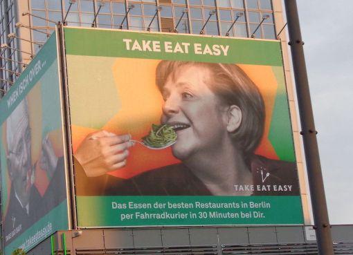 "Angela Dorothea Merkel ""TAKE EAT EASY"" Alexanderplatz, Berlin"