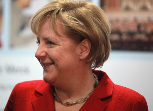 A smiling Angela Merkel, Chancellor of Germany