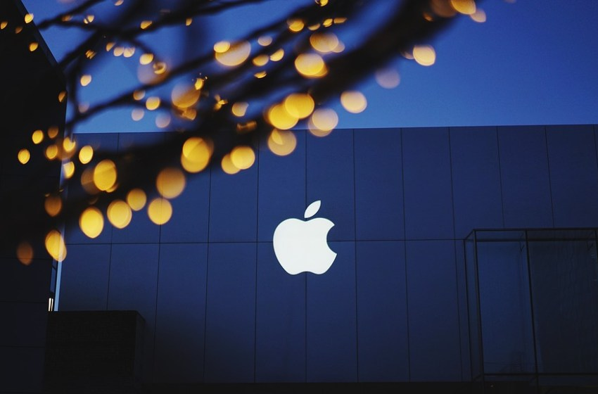 Apple logo at Apple Store