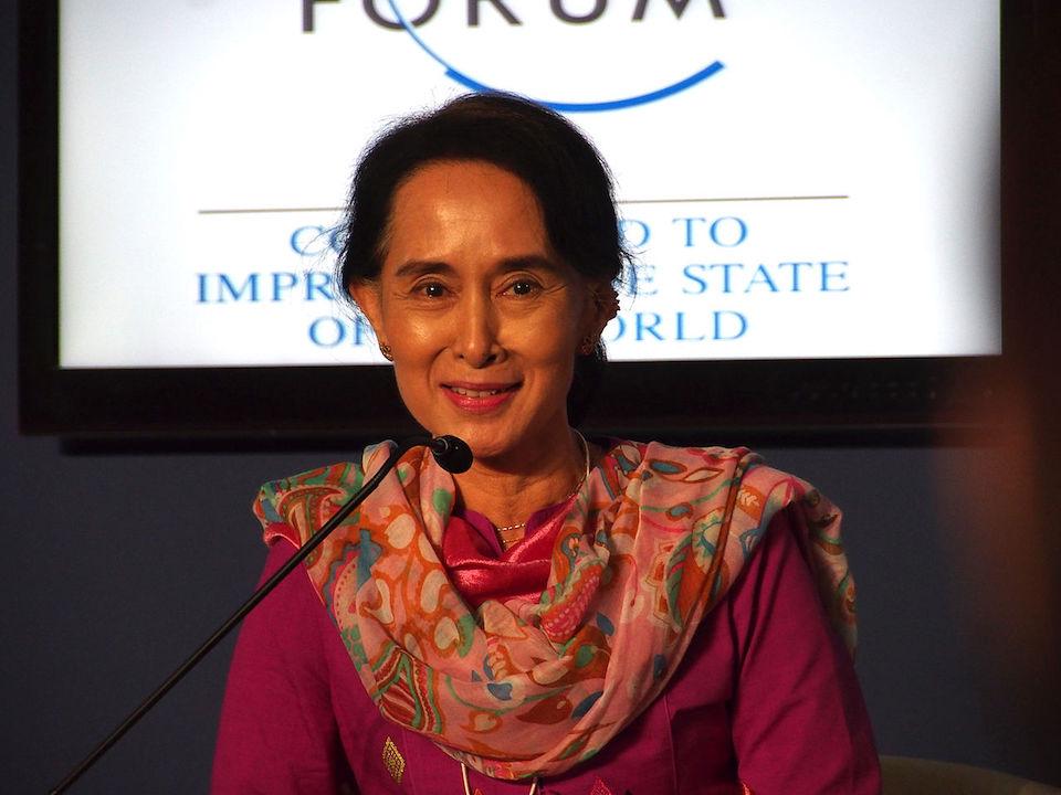 Aung San Suu Kyi in Myanmar
