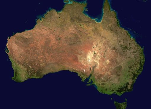 Satellite image of Australia