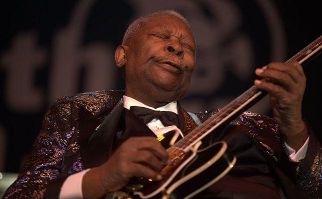 Blues guitarist B.B. King in a 2009 performance. Photo by Tom Beetz.