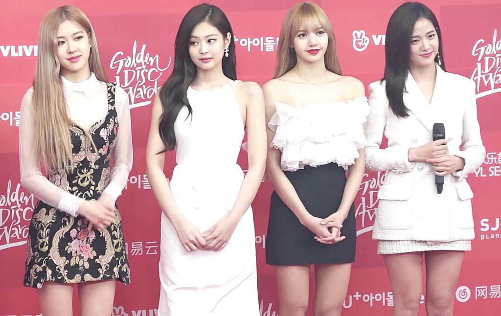 The Korean K-Pop girl band BLACKPINK at the Golden Disc Awards 2019