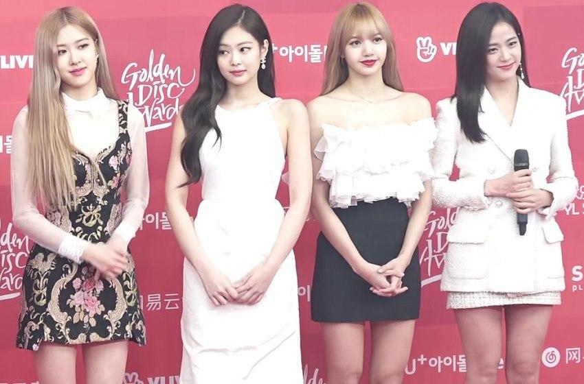 The Korean K-Pop girl band BLACKPINK at the Golden Disc Awards 2019