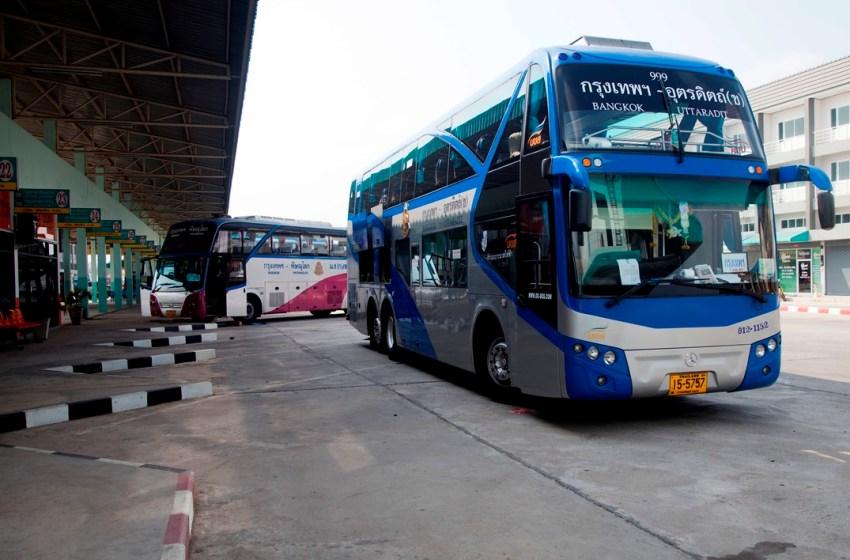 Bangkok-Uttaradit bus in Phitsanulok