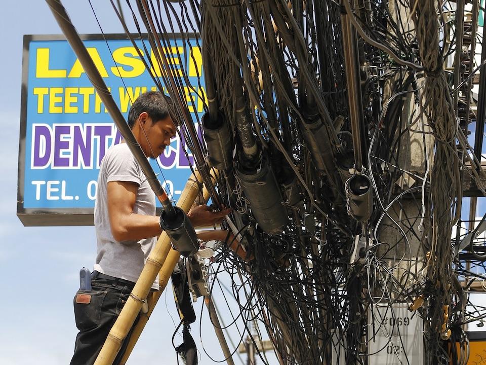 Bangkok power line cables