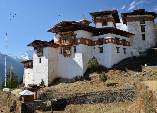 Gasa Dzong also known as Gasa Tashi Tongmön Dzong in Bhutan