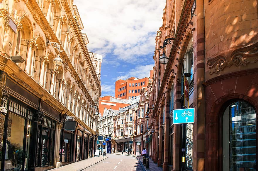 Birmingham's city centre in England, UK