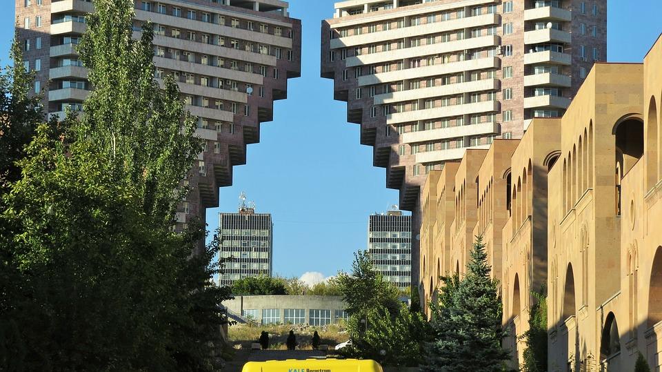 Buildings in Yerevan, Armenia