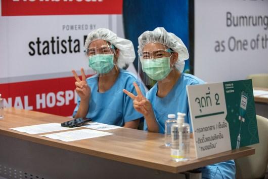 Nurses at Bumrungrad International Hospital during the COVID-19 pandemic