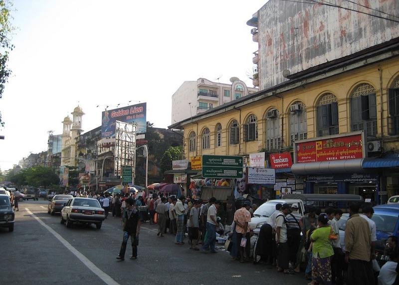 Street in Myanmar