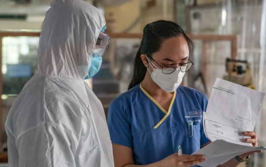 COVID-19 in Philippines. The Pandemic Sub-National Reference Laboratory at the Jose B. Lingad Memorial Regional Hospital in San Fernando City, Pampanga on 9 May 2020