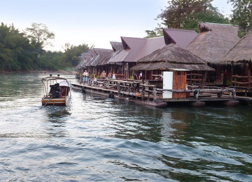 A canal or klong in Thailand