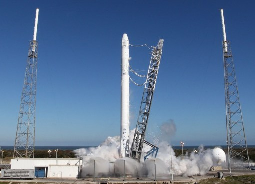 SpaceX rocket launch at Cape Canaveral, Florida