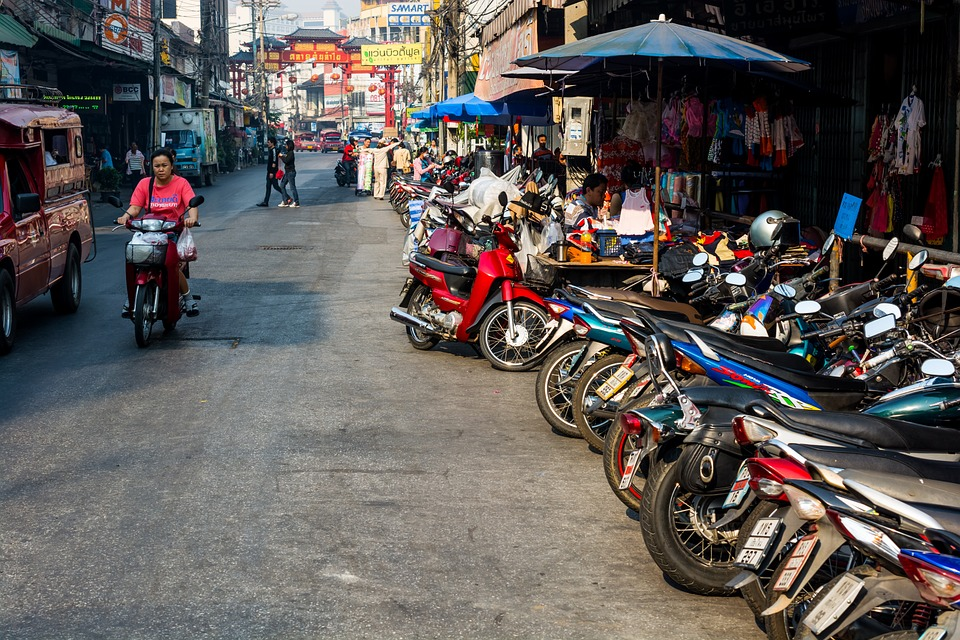 Market and street in Chiang Mai