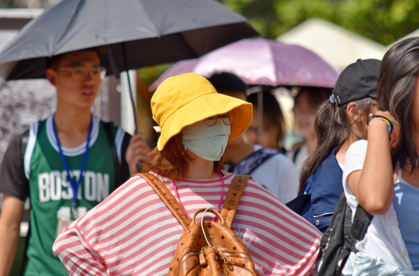 People wearing face mask during the COVID-19 pandemic in China