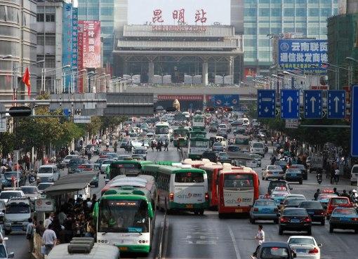 Kunming Railway Station in Yunnan, China