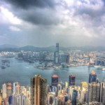 Approaching storm in Hong Kong