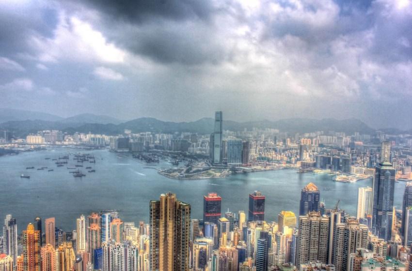 Approaching storm in Hong Kong