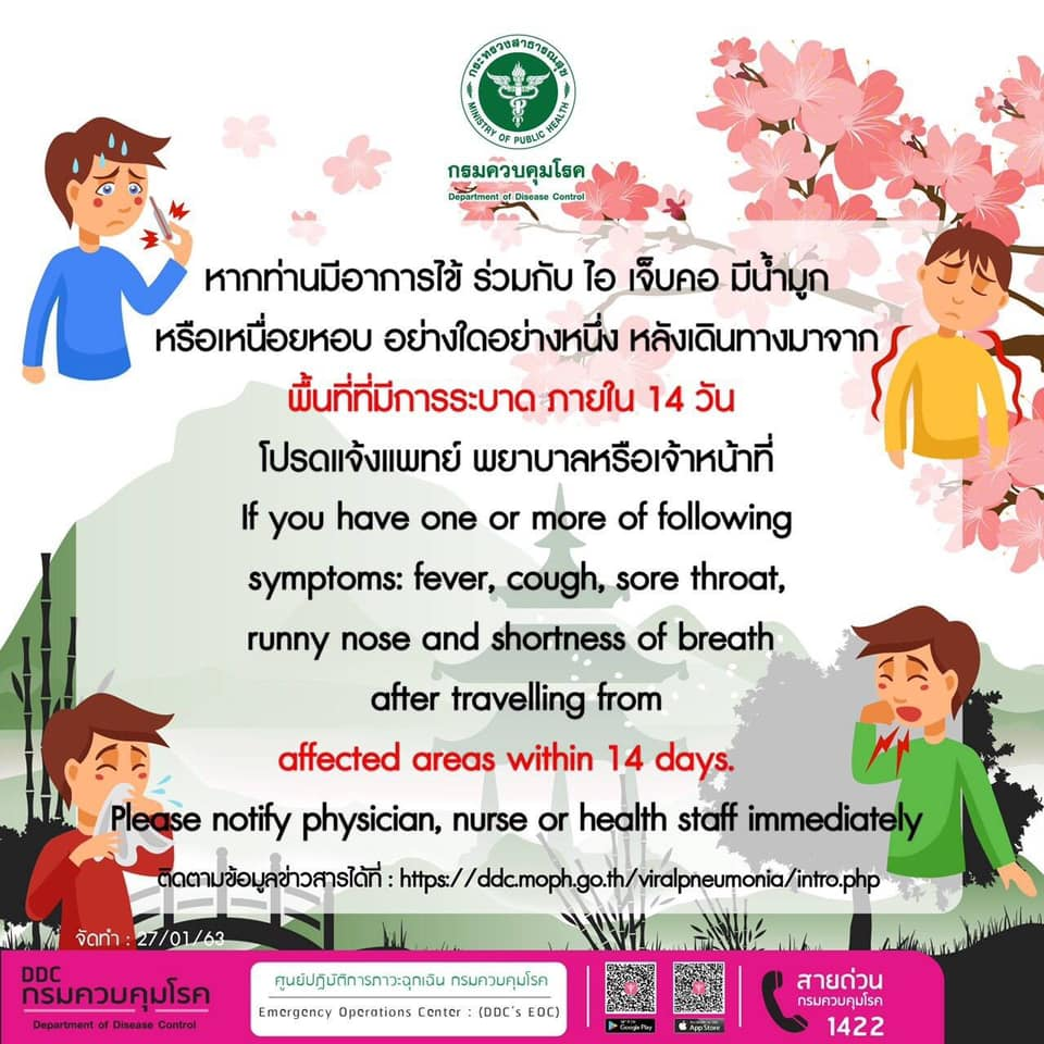 Leaflet providing basic information on novel coronavirus disease (COVID-19)by National Institute of Health of Thailand