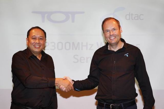 TOT and dtac to launch 4G LTE-TDD