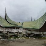 Damage from the 2009 Padang earthquake in Indonesia