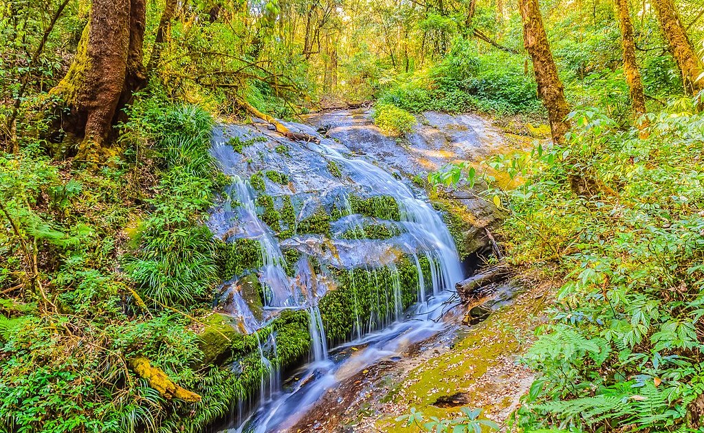 Waterfall at Kiew Maepan nature trail, Doi Inthanon national park, Chiang Mai