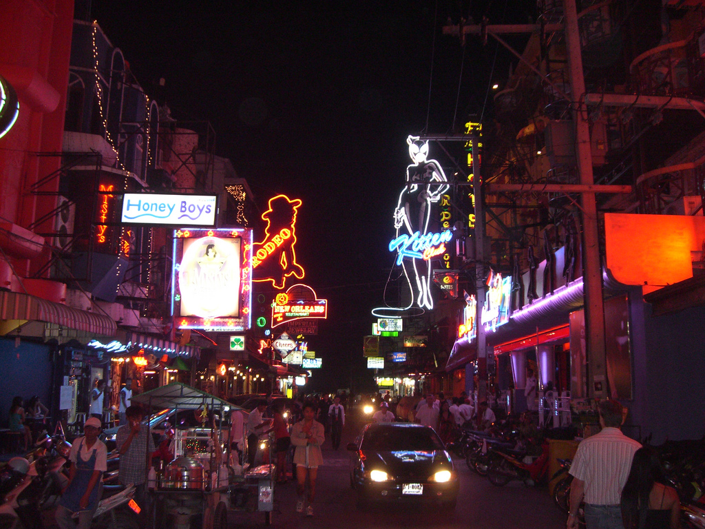 Downtown Pattaya at night