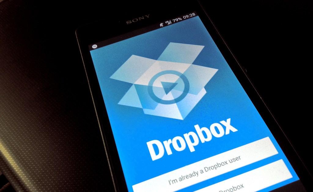 Dropbox on a smartphone device