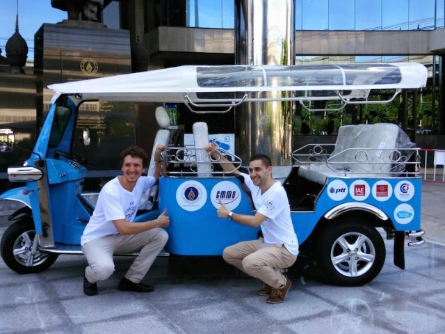 The Pilgreens will connect Bangkok to Toulouse with an electric Tuk Tuk