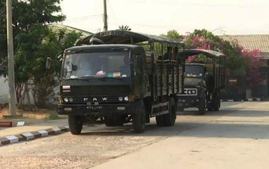 FAW Jiefang CA-1122J military truck of Myanmar Army
