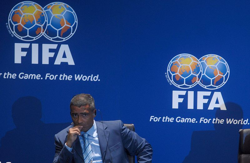 Romário at announcement of Brazil as 2014 FIFA World Cup host
