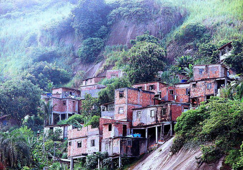 Rocinha favela in dangerous Rio de Janeiro