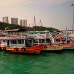 Ferries and boats on Bali Hai Pier, Pattaya