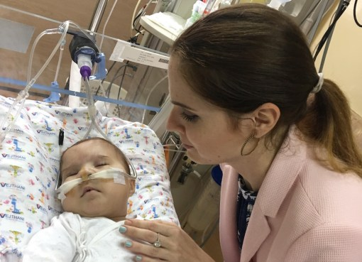 Filipino baby Leanne diagnosed with Trisomy 13 with her mother