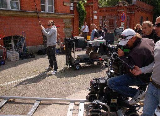 Filming an episode