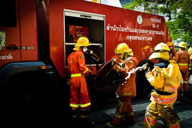 Pattaya condo hit by fire