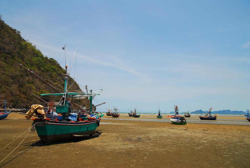 Fishing boats in Pran Buri, Prachuap Khiri Khan